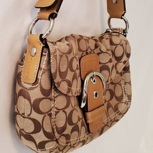 Tan Coach Soho purse